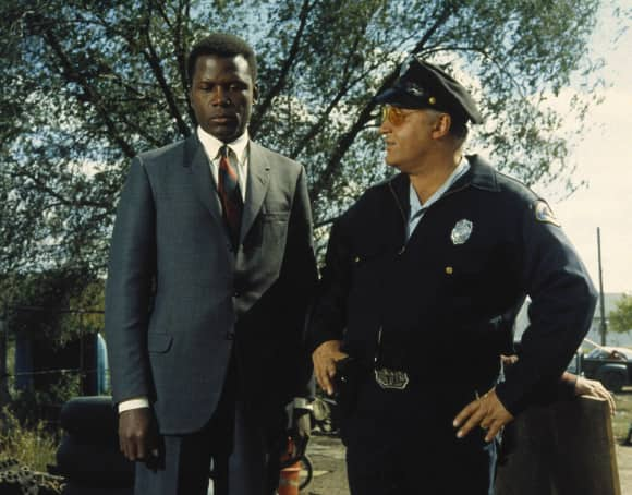 "Sydney Poitier and Rod Steiger in ""In the Heat of the Night"" best quote they call me Mr. Tibbs"