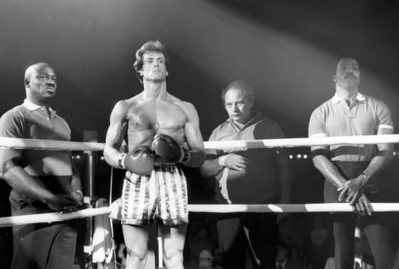 """Sylvester Stallone and Burt Young in """"Rocky"""""""