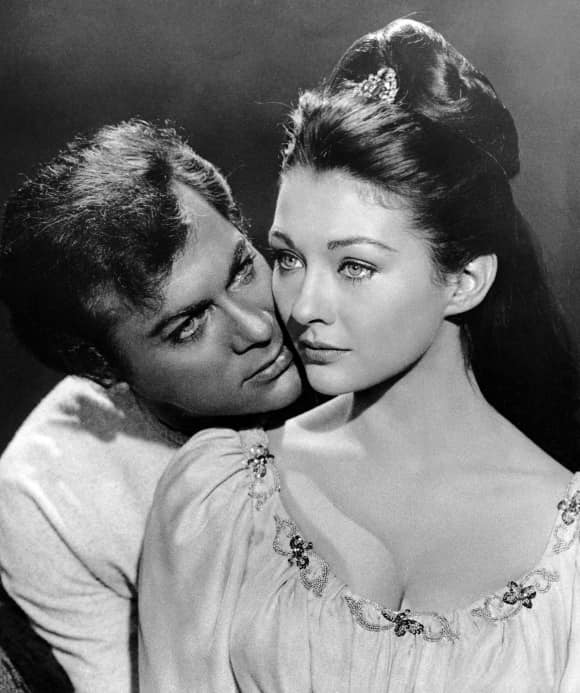 Tony Curtis and Christine Kaufmann