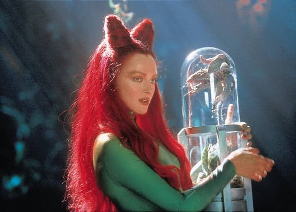 "Uma Thurman playing the role of ""Poison Ivy"" in ""Batman & Robin"""