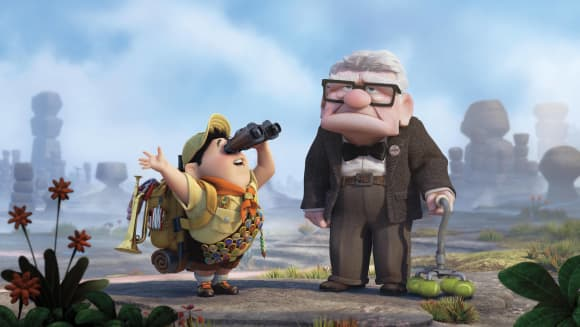 """Carl Fredriksson"" and ""Russel"" in Up"