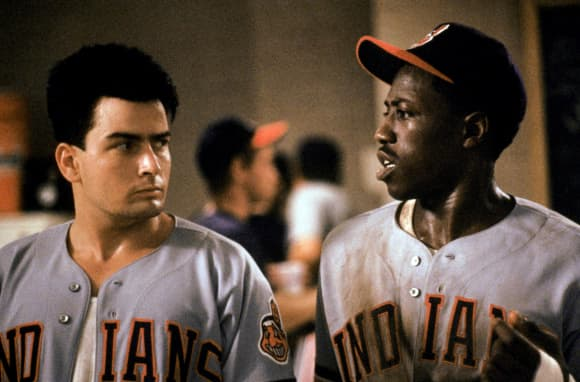 Charlie Sheen and Wesley Snipes 'Major League' 1989