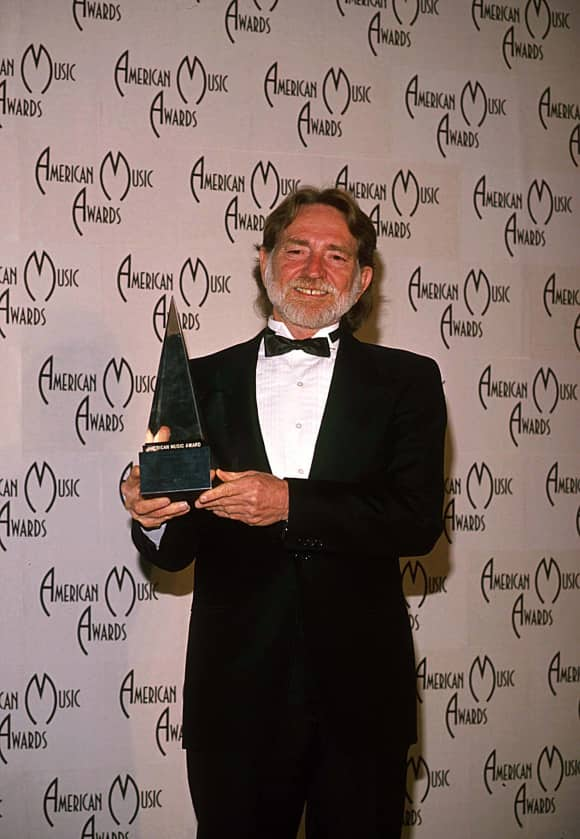 Willie Nelson at the American Music Awards in 1989