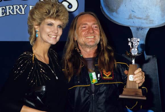 Willie Nelson and Connie Koepke