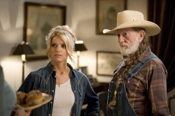 Willie Nelson and Jessica Simpson in 'The Dukes of Hazzard'