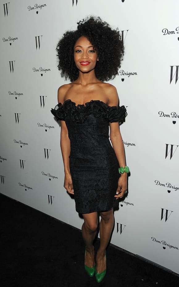 Yaya DeCosta arrives at the W Magazine Best Performances Issue and The Golden Globes celebration