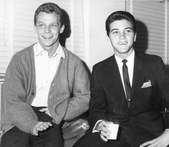 Willie Nelson and Paul Petersen in 1965