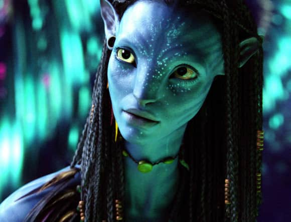 "Zoe Saldana as ""Neytiri"" in ""Avatar"""