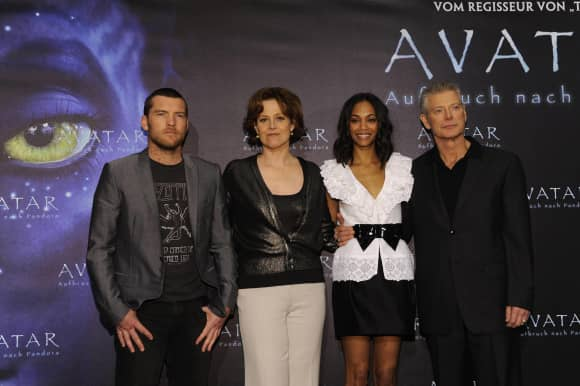 Sam Worthington, Sigourney Weaver, Zoe Saldana and Stephen Lang
