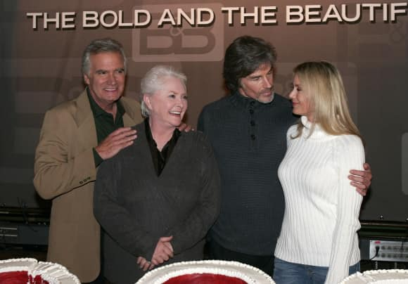 """John McCook, Katherine Kelly Lang, Susan Flannery and Ronn Moss from """"The Bold and The Beautiful"""""""