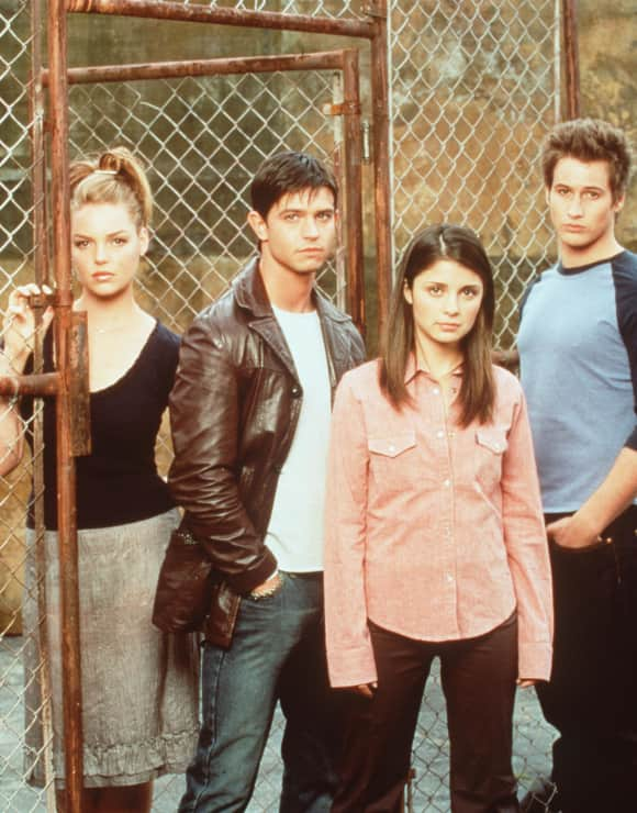 The Roswell cast: Katherine Heigl, Jason Behr, Shiri Appleby and Brendan Fehr
