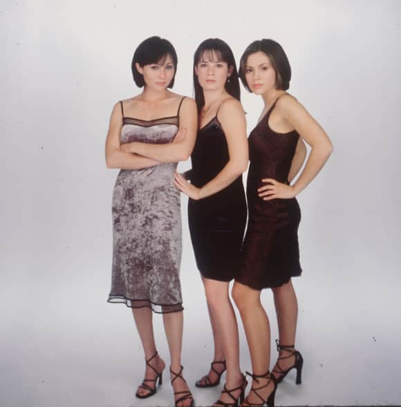 "Shannen Doherty, Holly Marie Combs and Alyssa Milano from the series ""Charmed"""