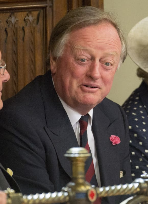 Andrew Parker Bowles attends the State Opening of Parliament in the House of Lords, at the Palace of Westminster on May 27, 2015 in London, England