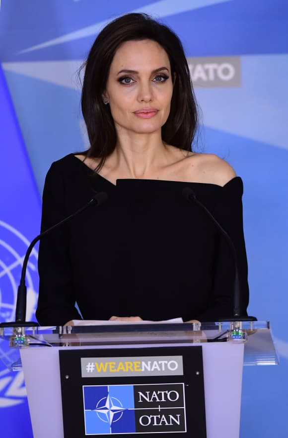 Angelina Jolie Speaking at NATO in Brussels in 2018