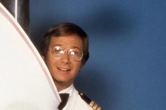 "Bernie Kopell as ""Adam 'Doc' Bricker"" in 'The Love Boat'."