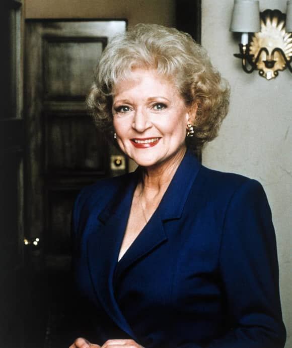 "Betty White played ""Rose Nylund"" on The Golden Girls"