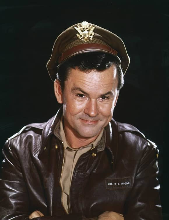 "The iconic role of ""Col. Robert E. Hogan"" was played by Bob Crane"