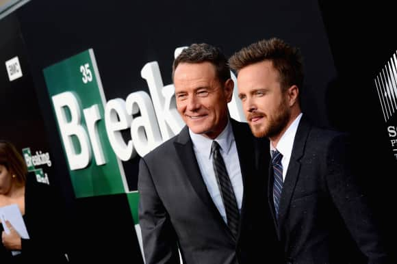 Bryan Cranston and Aaron Paul final Breaking Bad episode screening in 2013