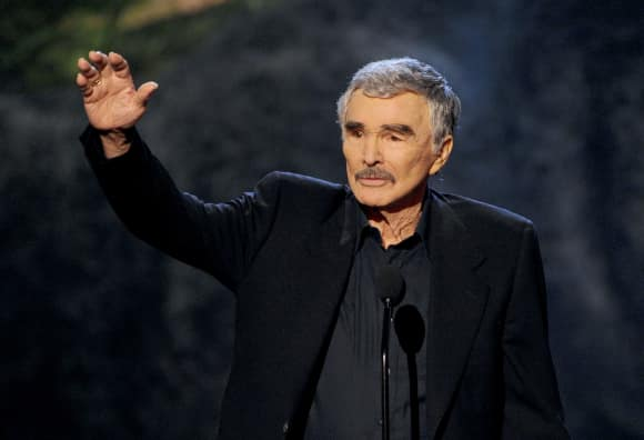 Burt Reynolds accepts an award on stage at the 2013 Spike TV's 'Guys Choice 2013'.