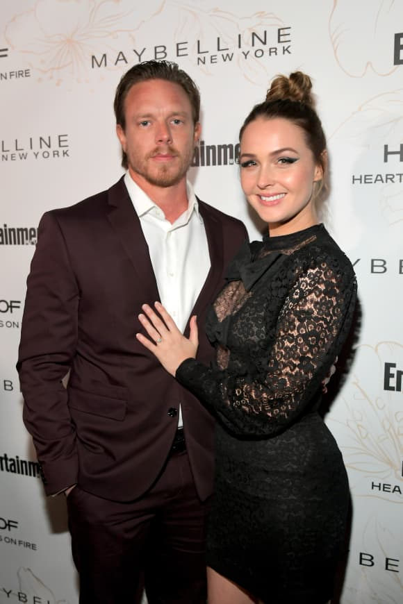 Camilla Luddington and Matthew Alan on the red carpet in January 2018