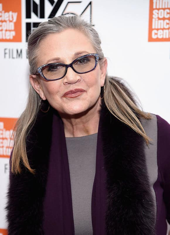 Carrie Fisher passed away in 2106.