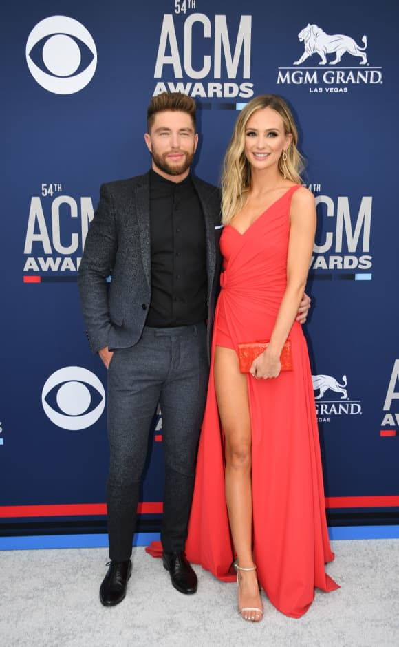 Chris Lane and Lauren Bushnell at the 54th Academy of Country Music Awards
