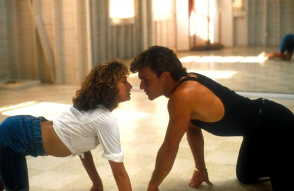 Jennifer Grey and Patrick Swayze in 'Dirty Dancing'