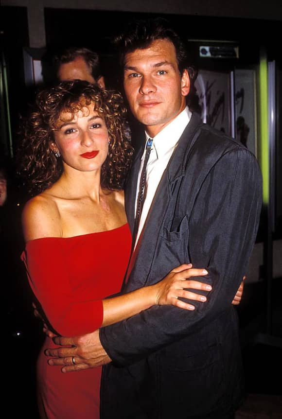 Jennifer Grey and Patrick Swayze at the premiere of Dirty Dancing in 1987.