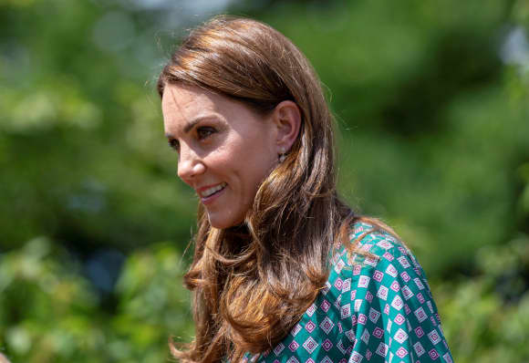 The Duchess of Cambridge looked gorgeous in a green dress at the Garden Festival.