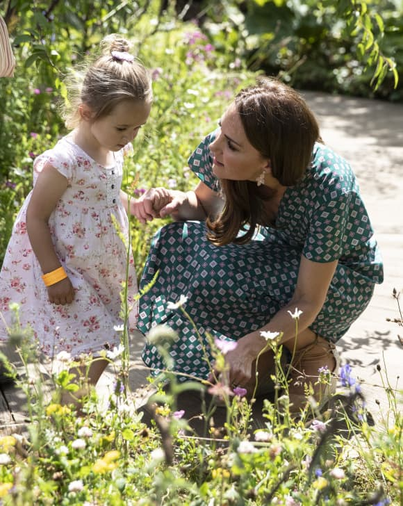 Duchess Catherine at the picnic for her patronages at the RHS Royal Hampton Court Flower Festival.