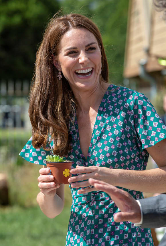 Duchess Catherine enjoying her time at the RHS Hampton Court Palace Garden Festival.