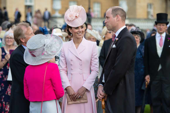 Duchess Catherine and Prince William at the Royal Garden Party at Buckingham Palace on May 21st 2019.