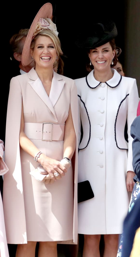 Duchess Catherine and Queen Maxima of the Netherlands at the Order of the Garter on June 17th, 2019