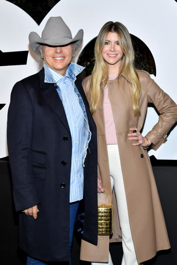 Dwight Yoakam and Emily Joyce attend the 2019 GQ Men of the Year at The West Hollywood Edition on December 05, 2019