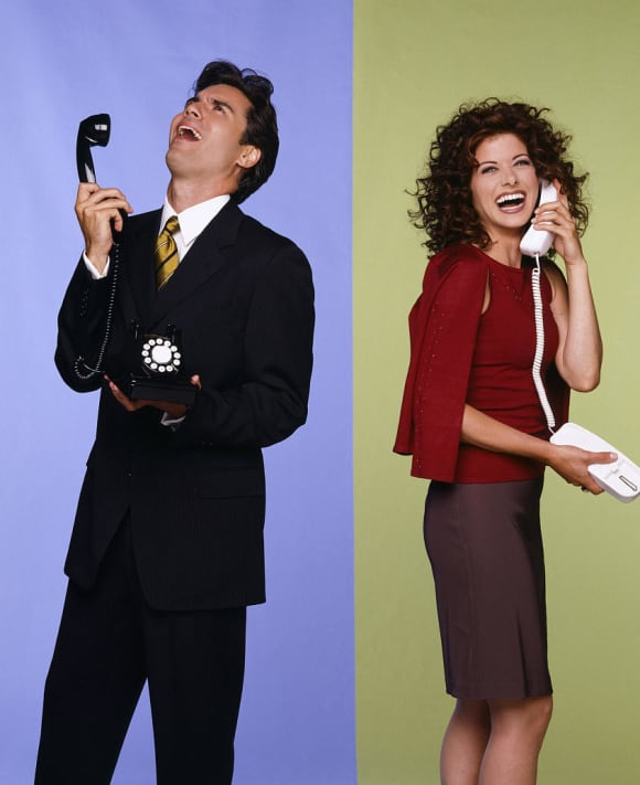 Eric McCormack and Debra Messing Will & Grace