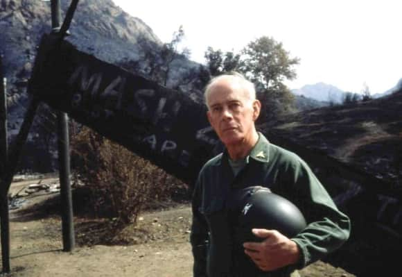 "Harry Morgan played ""Sherman Potter"" in ""M*A*S*H"""