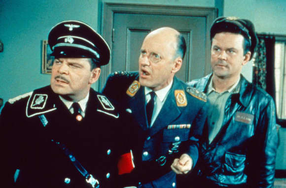 Howard Caine, Werner Klemperer, Bob Cranem in Hogan's Heroes