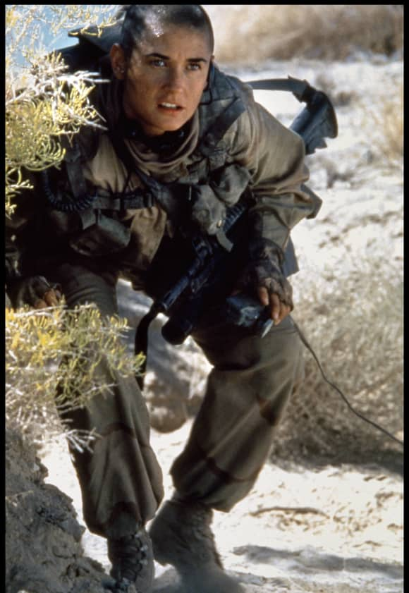 "Demi Moore in the 1997 film, ""G.I. Jane""."