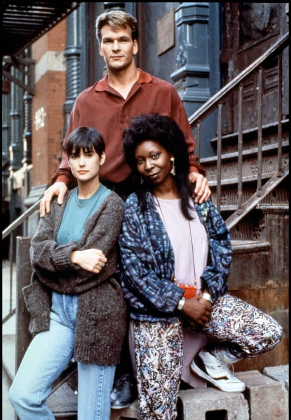 Demi Moore, Patrick Swayze and Whoopi Goldberg in the film, 'Ghost'.
