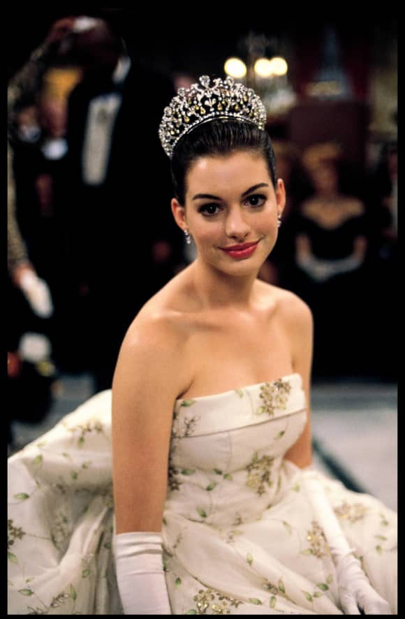 Anne Hathaway in the 2001 Disney film, 'The Princess Diaries'.