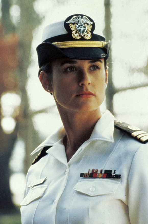 "Demi Moore plays ""Lieutenant Commander JoAnne Galloway"" in the 1992 film, 'A Few Good Men'."