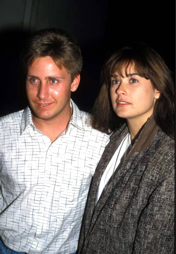 "Emilio Estevez and Demi Moore starred together in ""St. Elmo's Fire""."
