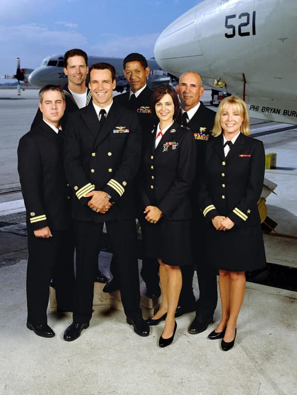 "The cast of CBS' ""JAG"""