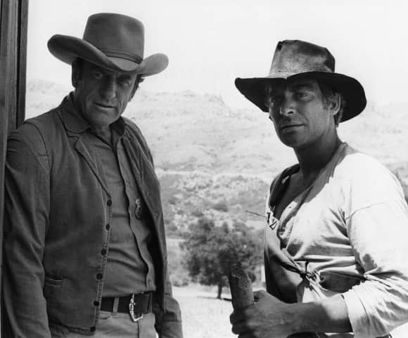 James Arness and Dennis Weaver