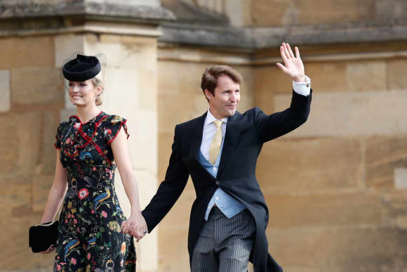 James Blunt Sofia Wellesley St. George's Chapel Princess Eugenie's Wedding