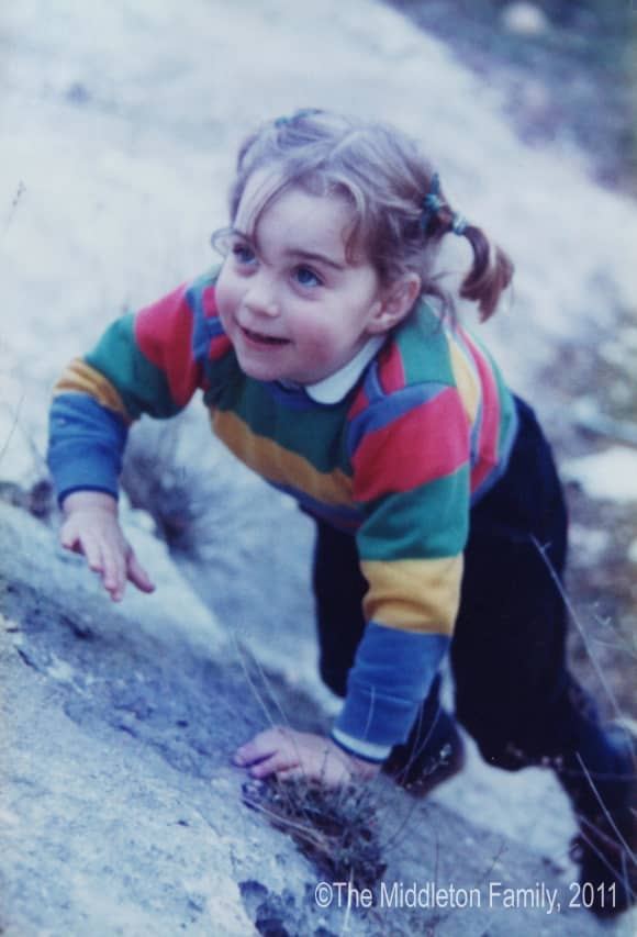 Kate Middleton, pictured in 1985 as a child