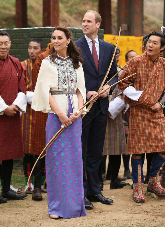 Prince William and Duchess Kate in Bhutan