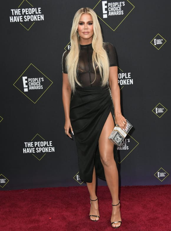 Khloé Kardashian at the 2019 People's Choice Awards on 10 November 2019, Santa Monica, California.