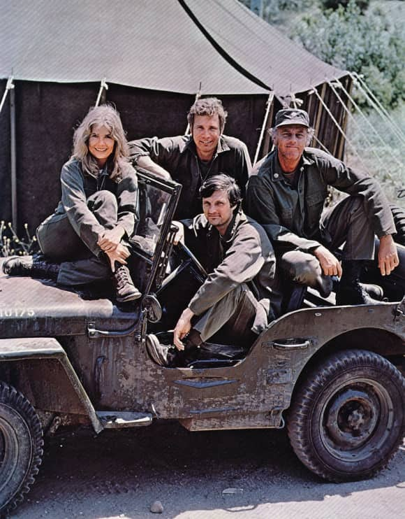 "The cast of the popular show ""M*A*S*H"""