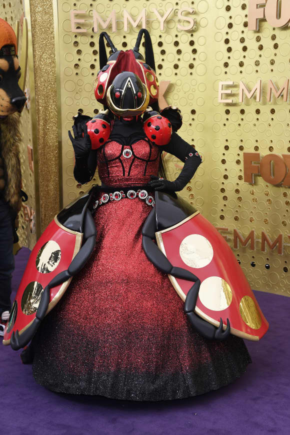A character from 'The Masked Singer' attends the 71st Emmy Awards at Microsoft Theater on September 22, 2019
